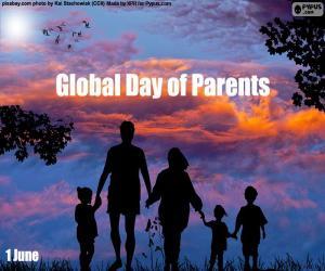 Puzle Dia das mães e pais