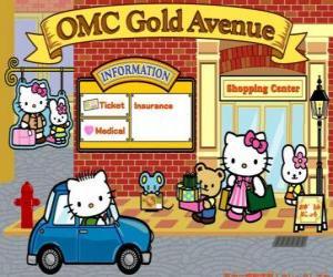 Puzle Dia de compras com Hello Kitty e amigos