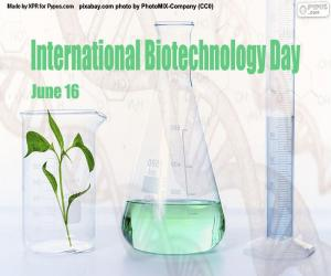 Puzle Dia Internacional da Biotecnologia