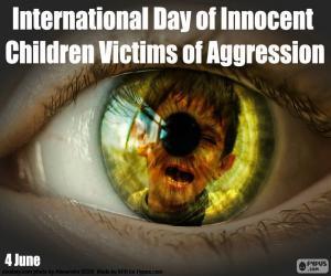 Puzle Dia Internacional das Crianças Inocentes Vítimas de Agressão