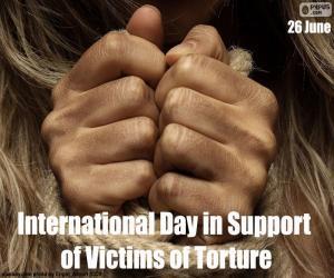 Puzle Dia Internacional de apoio às vítimas de tortura