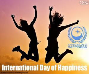 Puzle Dia Internacional de felicidade