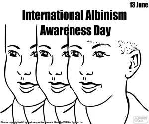 Puzle Dia internacional de sensibilização ao albinismo