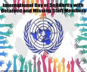 Puzle Dia Internacional de Solidariedades aos Funcionários Presos e Desaparecidos