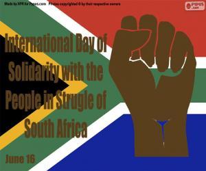 Puzle Dia Internacional de Solidariedade com o Povo em Luta da África do Sul