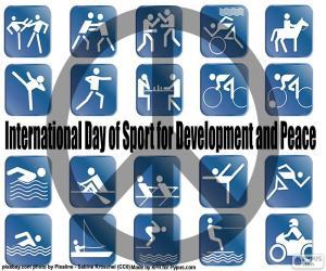 Puzle Dia Internacional do Esporte para o Desenvolvimento e pela Paz