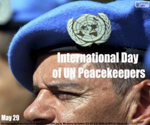 Puzle Dia Internacional do Pessoal de Paz da ONU