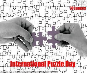 Puzle Dia internacional do quebra-cabeça