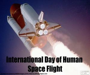 Puzle Dia Internacional dos Voos Espaciais Tripulados