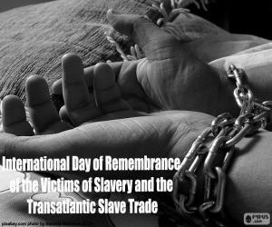 Puzle Dia Internacional em Memória das Vítimas da Escravidão e do Comércio Transatlântico de Escravos