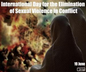 Puzle Dia Internacional para Eliminação da Violência Sexual em Conflito