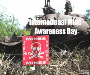 Puzle Dia internacional sobre o perigo das minas