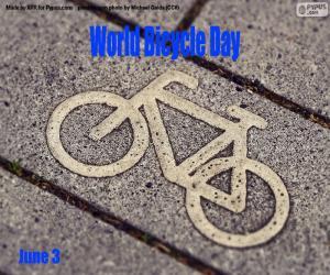 Puzle Dia Mundial da Bicicleta