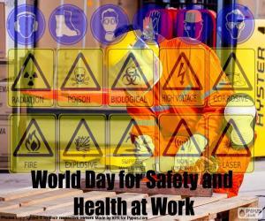 Puzle Dia Mundial da segurança e saúde no trabalho
