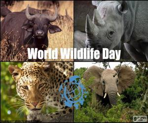 Puzle Dia Mundial da Vida Selvagem