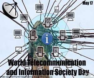 Puzle Dia Mundial das telecomunicações e sociedade da informação