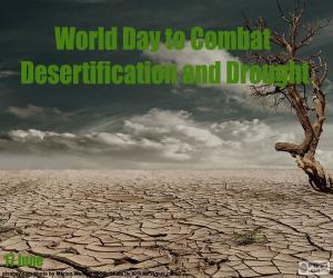 Puzle Dia Mundial de luta contra a desertificação
