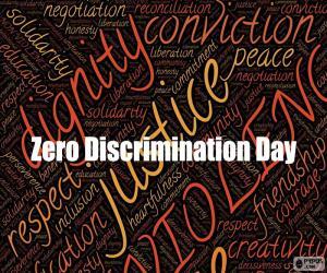 Puzle Dia Mundial de Zero Discriminação