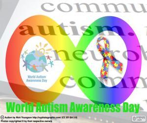Puzle Dia Mundial do autismo