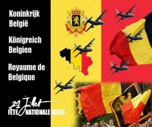 Puzle Dia Nacional da Bélgica é comemorado em 21 de julho. Em 1831, o primeiro rei belga jurou fidelidade à Constituição