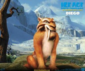 Puzle Diego, o tigre dente-de-sabre