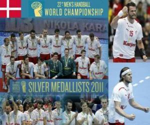 Puzle Dinamarca Medalha de Prata no Mundial de Handebol 2011