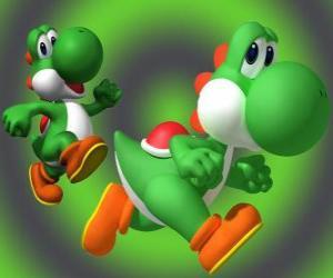 Puzle Dinossauro Yoshi é o melhor amigo do Mario