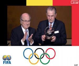 Puzle Distinção presidencial da FIFA 2013 para Jacques Rogge