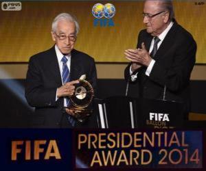 Puzle Distinção presidencial da FIFA 2014 para Hiroshi Kagawa