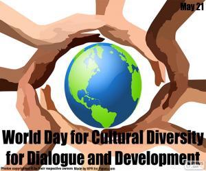 Puzle Diversidade Cultural global de dia para o diálogo e o desenvolvimento