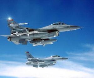 Puzle Dois aviões de combate