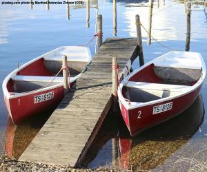 Puzle Dois barcos a remos