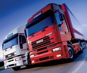 Puzle Dois caminhões Iveco