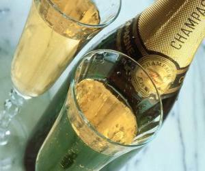 Puzle Dois copos de champanhe