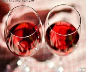 Puzle Dois copos de vinho