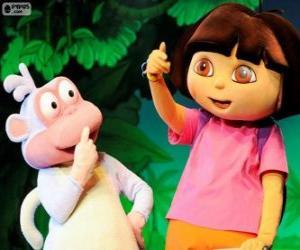 Puzle Dois grandes amigos, Dora e Botas