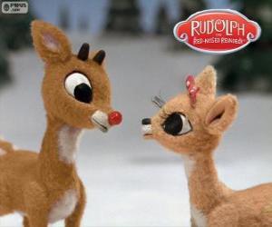 Puzle Dois jovens renas Rudolph e Fireball