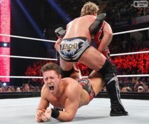 Puzle Dois lutadores profissionais em combate