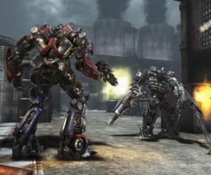 Puzle Dois robôs transformers