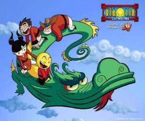 Puzle Dojo Kanojo Cho, o dragão dos guerreiros Xiaolin pode mudar a sua forma