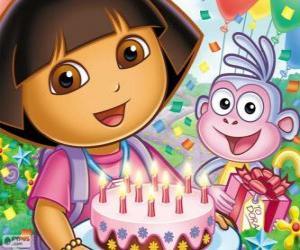 Puzle Dora, a aventureira festeja seu aniversário