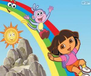 Puzle Dora, Botas e o arco-íris