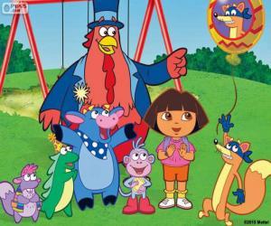 Puzle Dora com alguns amigos