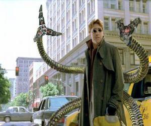 Puzle Doutor Octopus é um cientista louco muito inteligente, um dos maiores inimigos do Homem-Aranha