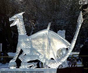 Puzle Dragão de gelo
