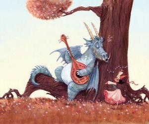 Puzle Dragon cantado uma música para a princesa