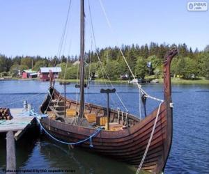 Puzle Drakkar ou navio viking