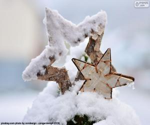 Puzle Duas estrelas com neve