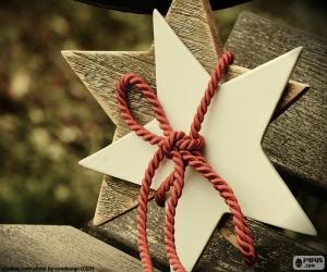 Puzle Duas estrelas de madeira