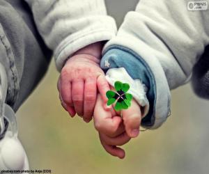 Puzle Duas mãos de bebês